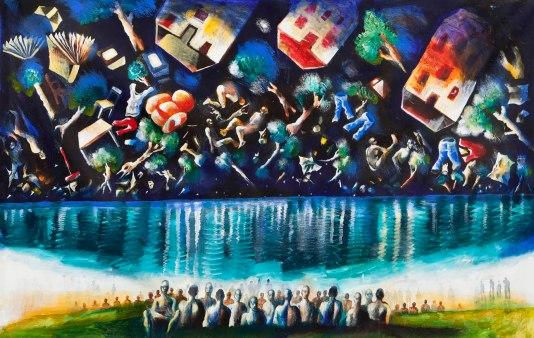 David Breuer-Weil, Constellation, 2012, oil on canvas, 200 x 325 cm