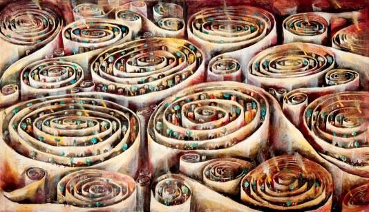 David Breuer-Weil, Infinity, 2009, 205 x 351cm