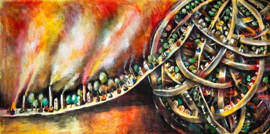 David Breuer-Weil, Life Line, 2007, 198 x 394cm