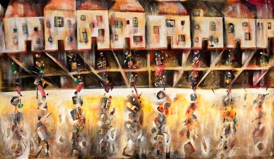 David Breuer-Weil, Suburb 2 (Secret), 2008, 200 x 344 cm