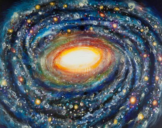 Milky-Way, 2012, acrylic on canvas