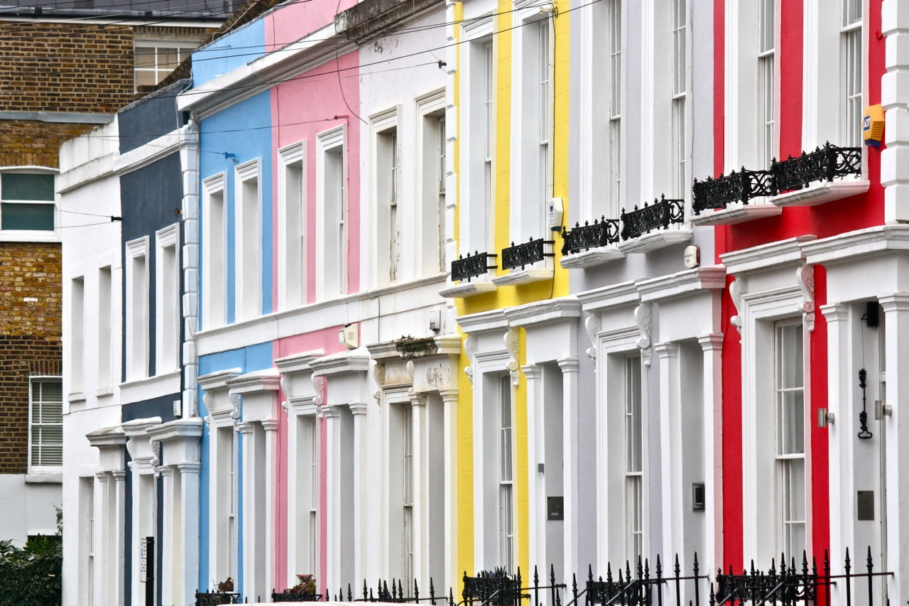 The colourful houses of notting hill little london for House notting hill