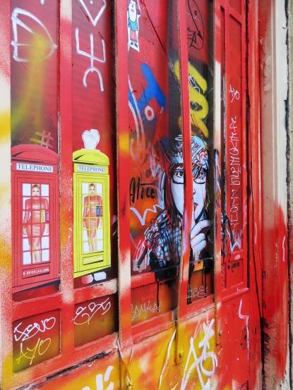 Street Art by Alice Pasquini and D7606, Brick Lane Shoreditch - January 2013