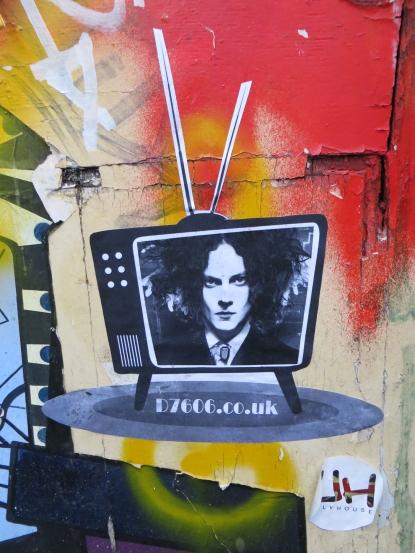 Street Art Jack White by D7606, Brick Lane, Shoreditch - February 2013