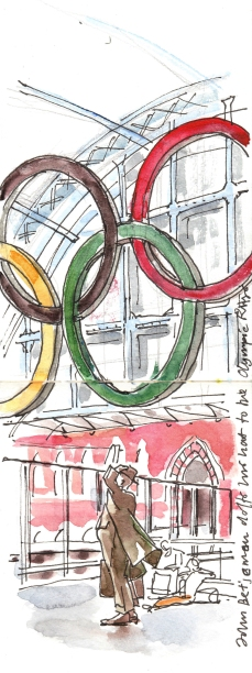 Olympic rings at St Pancras